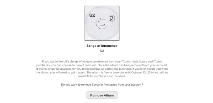 Narzędzie do usunięcia albumu U2 z iTunesa