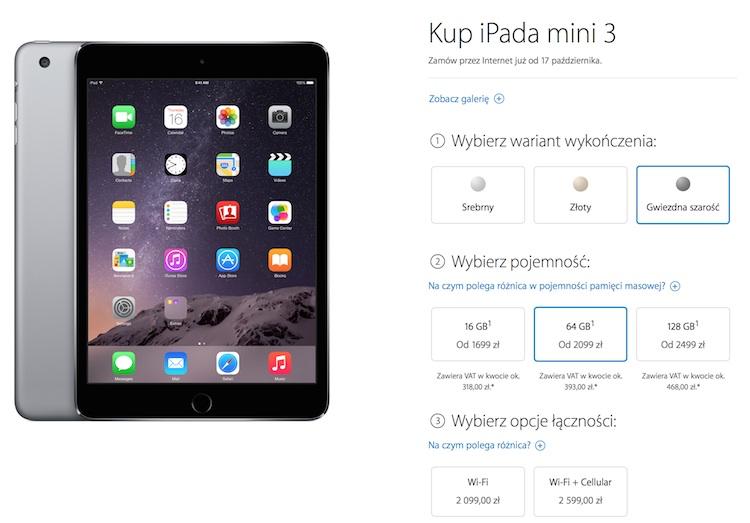 iPad mini 3 - ceny w Polsce