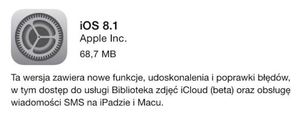 iOS 8.1 dostępny do pobrania!