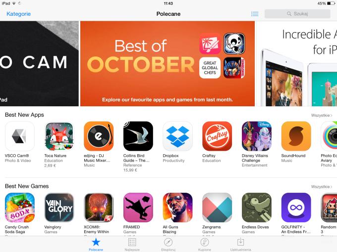 App Store po polsku