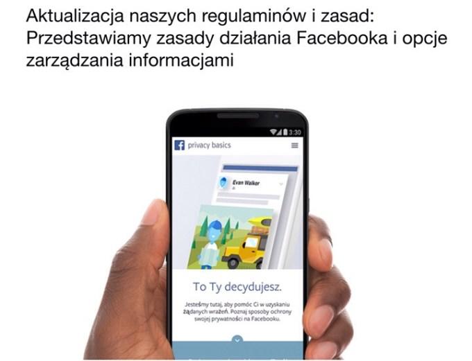 Nowy regulamin Facebooka