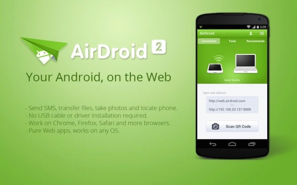 AirDroid – SMS-y i połączenia z Androida na komputerze