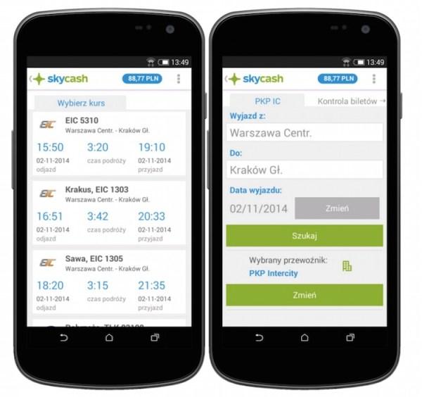 SkyCash i PKP Intercity testują mobilne bilety