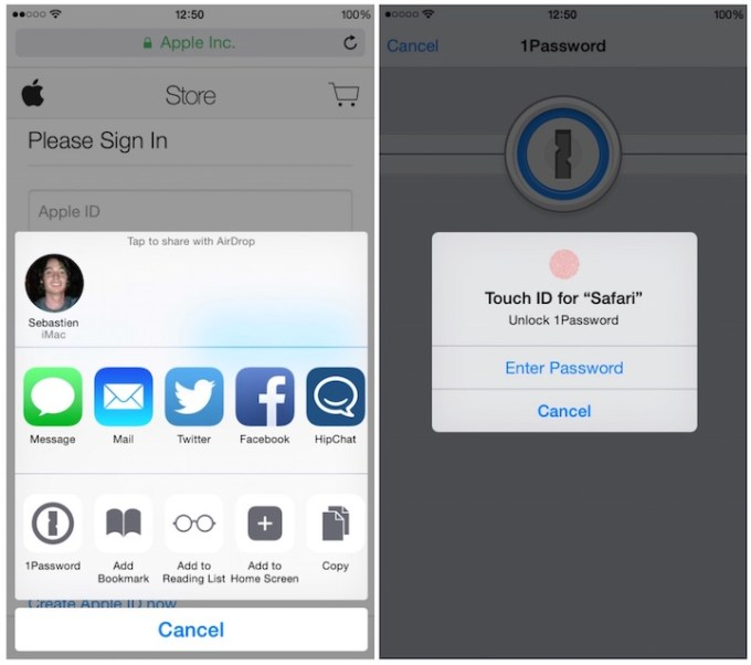 The best apps with Touch ID support of 2014 - 1Password