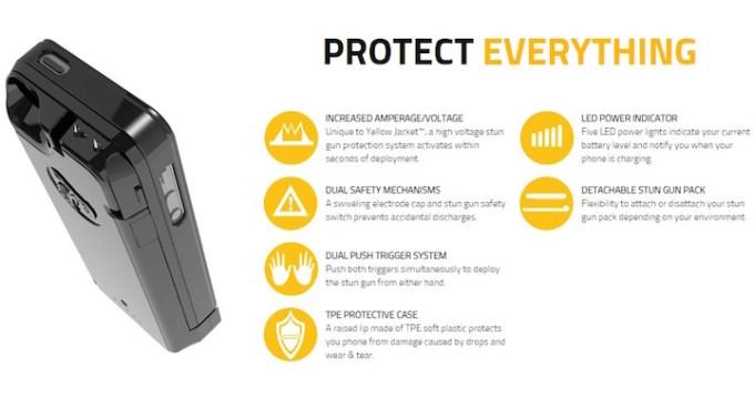 Yellow Jacket Stun Gun iPhone 5 Case