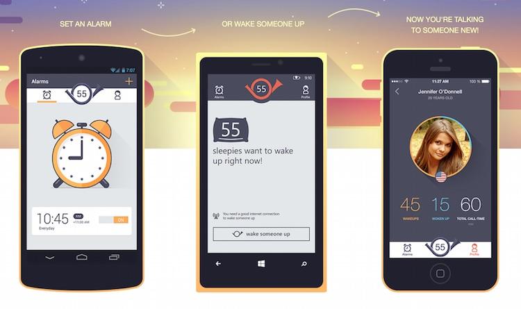 Aplikacja mobilna Wakie