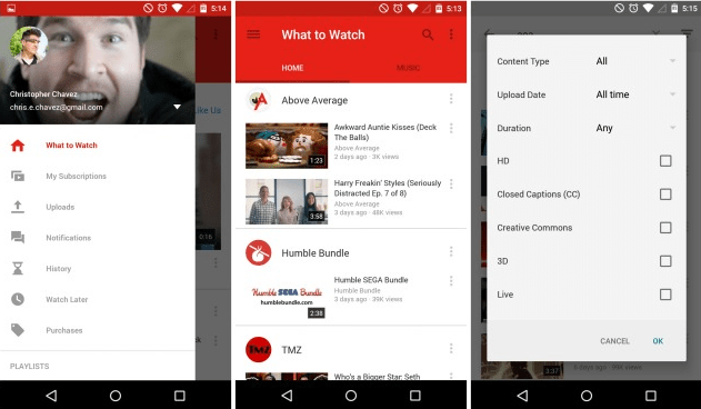 YouTube 6.0.11 w Material Design