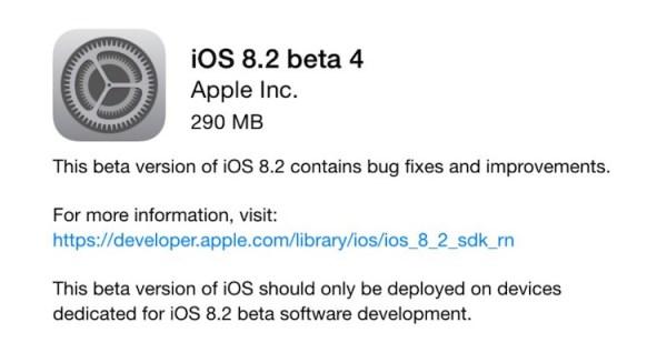 Apple udostępniło iOS 8.2 beta 4 dla programistów