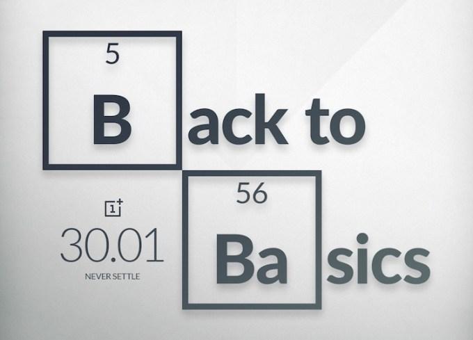 OnePlus - Back to Basics