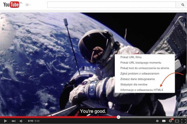 Odtwarzacz YouTube'a w HTML-u 5