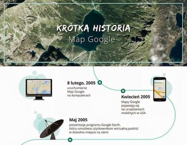 Mapy Google mają już 10 lat!
