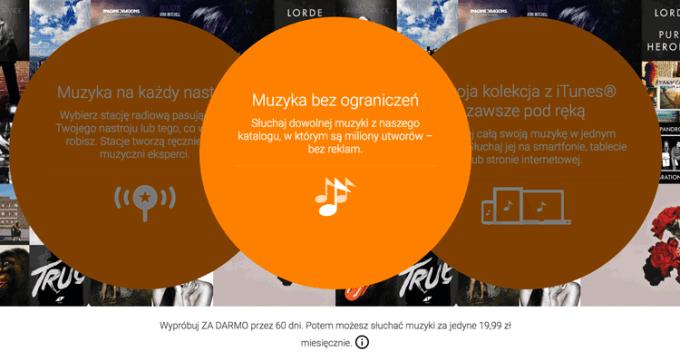 Muzyka Google Play za darmo przez 60 dni