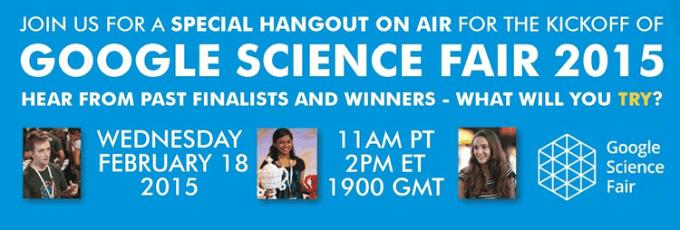 Google Science Fair 2015 - Kickoff