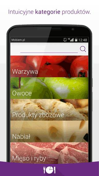 Tabela Kalorii - Wiem co jem - aplikacja