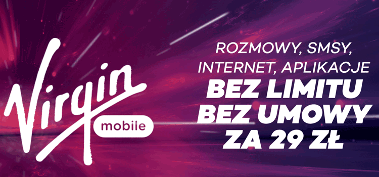 Virgin Mobile - bez limitu, bez umowy za 29 zł