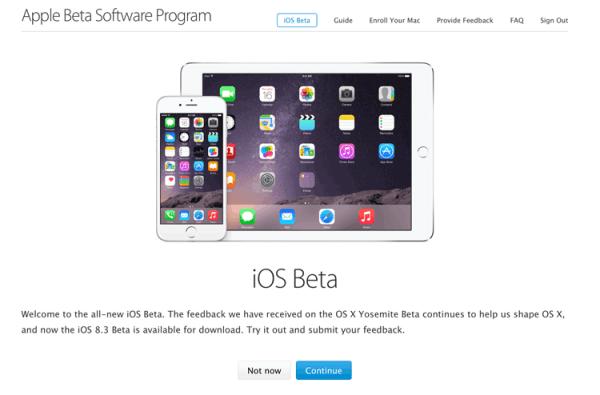 Publiczne beta testy systemu iOS 8.3