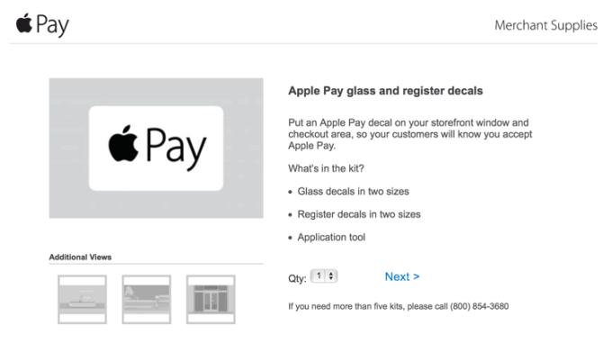 Specjalna srona Apple Pay dla sprzedawców