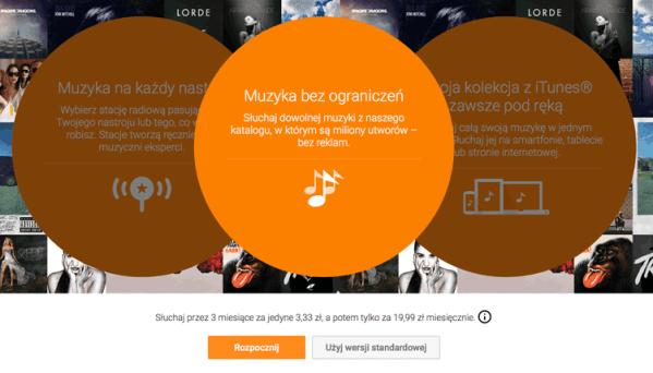 Subskrypcja Muzyki Google Play 3 miesiące za 3,33 zł