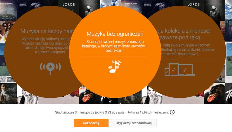 Google Muzyka All Access 3 mies. za 3,33 zł