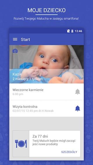 Moje Dziecko - aplikacja mobilna