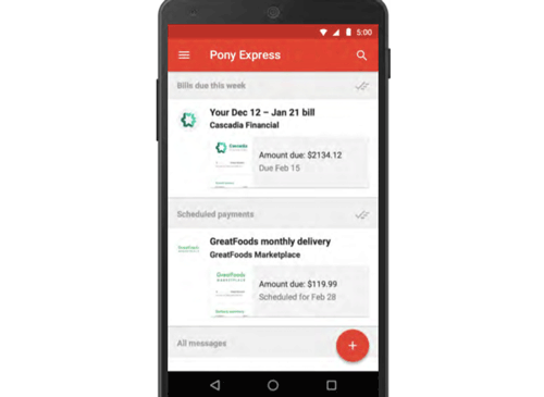 Pony Express by Gmail mobile app