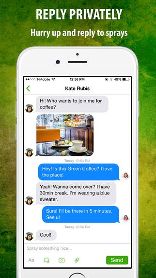 Spray - aplikacja zrzut ekranu