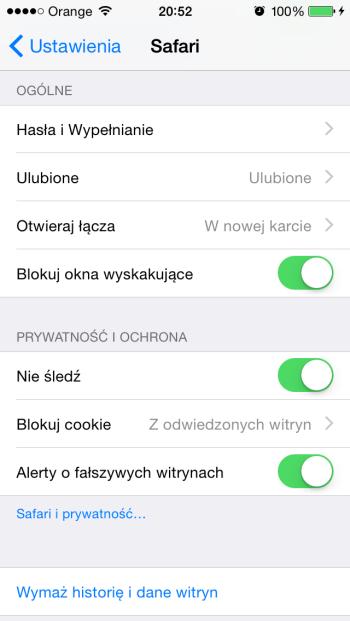 Bezpieczeństwo przeglądarki Safari w iPhone'ie