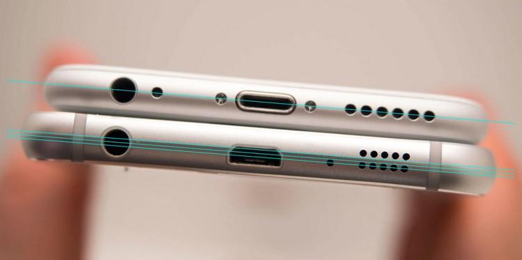 Symetria w Galaxy S6 i iPhone'ie 6