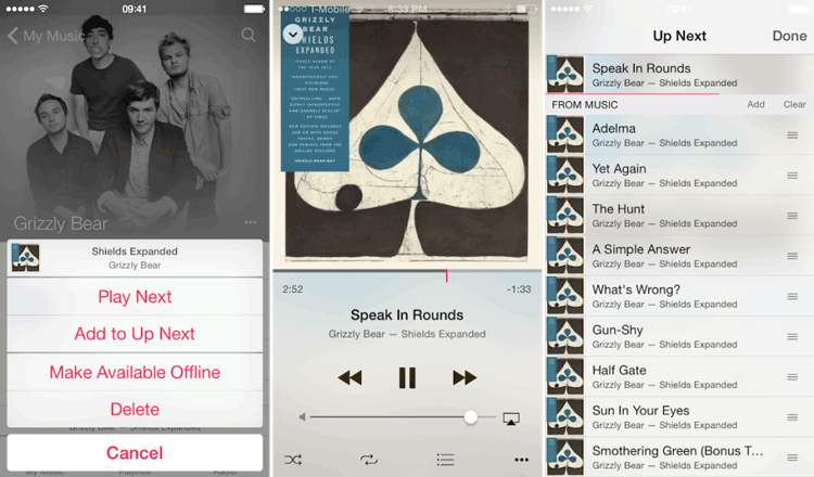 Aplikacja Muzyka pod iOS 8.4
