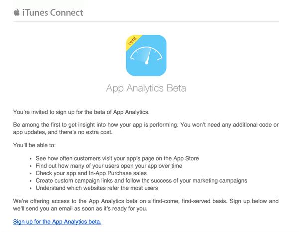 App Analytics Beta - zaproszenie dla programistów