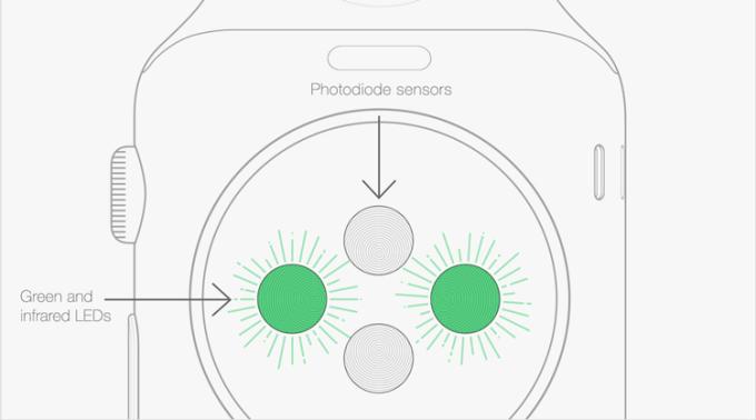 sensory w zegarku Apple Watch