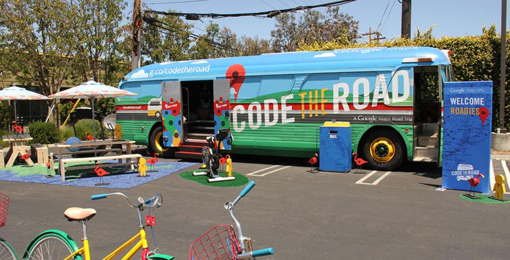 Autobus Google Maps - Code the Road
