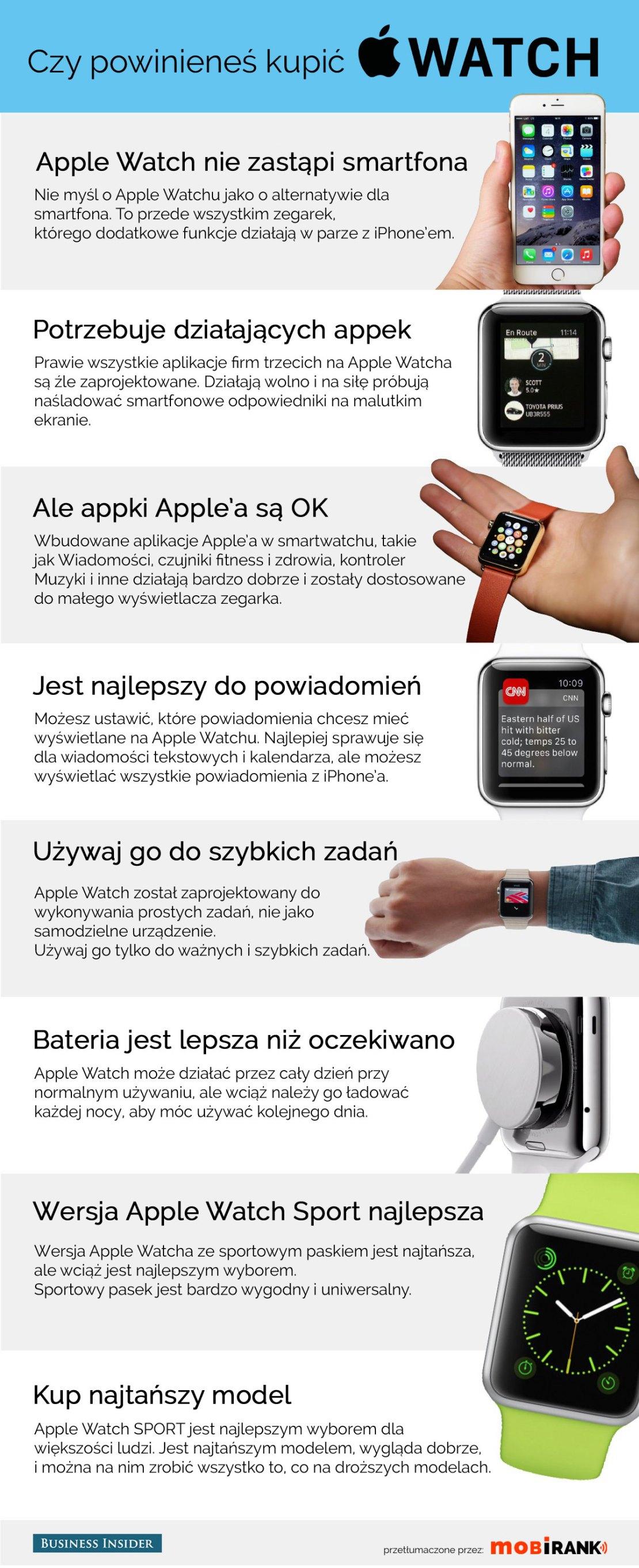 Czy kupować Apple Watcha? - poradnik