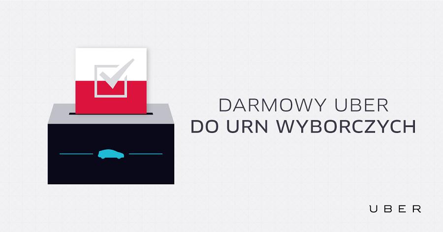 Uber zawiezie za darmo na wybory w Warszawie i Krakowie