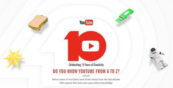 Weź udział w quizie z okazji 10-lecia YouTube'a