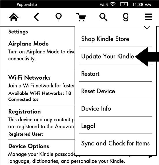 Ręczna aktualizacja czytnika Kindle