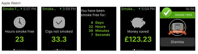 Smoke Free na Apple Watcha