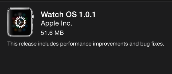 Apple udostępniło Watch OS 1.0.1