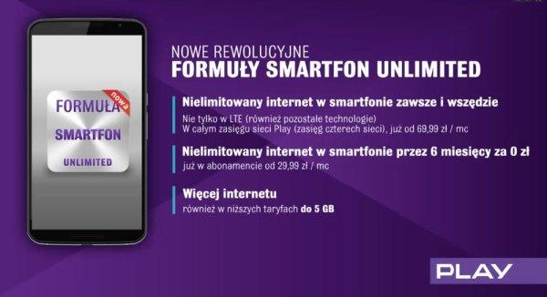 Formuła Smartfon Unlimited w Play z nielimitowanym internetem