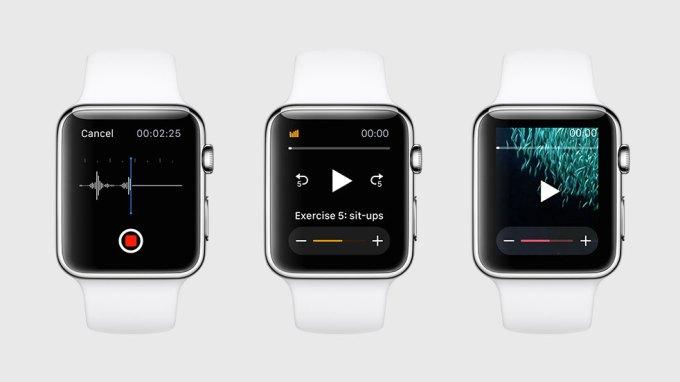 Apple Watch odtwarzanie audio i wideo