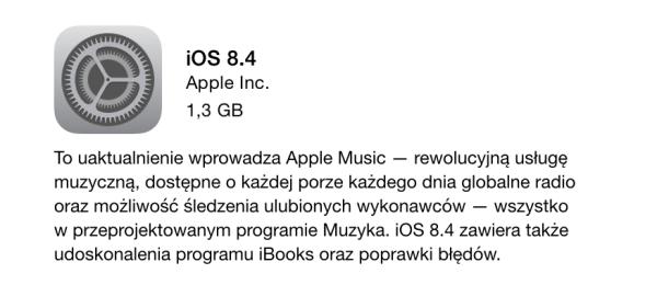 iOS 8.4 z Apple Music dostępny do pobrania