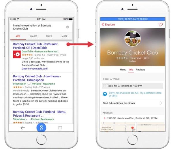 Google na iOS-a wyszuka treści z innych aplikacji