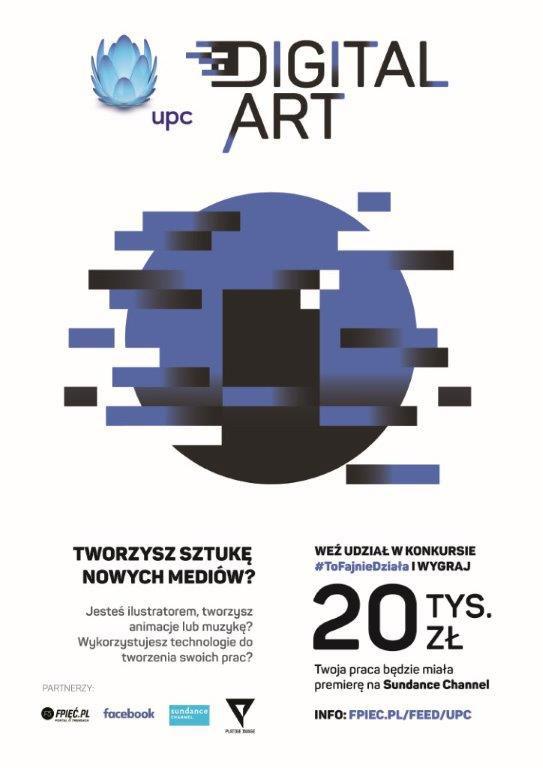 Ulotka informacyjna o konkursie UPC Digital Art
