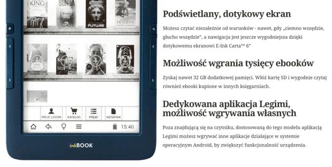 Czytnik inkBook Onyx w ofercie Legimi z abonamentem