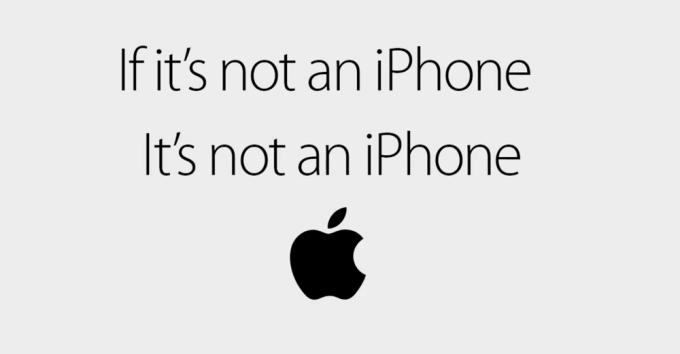 Jeśli to nie jest iPhone, to nie jest iPhone. - hasło spotów reklamowych Apple'a