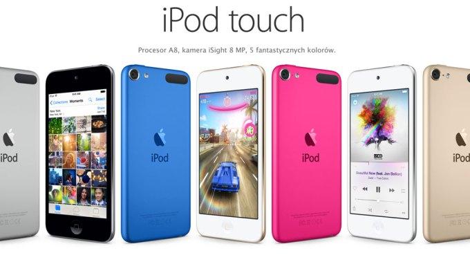 iPod touch 2015 w 6 kolorach