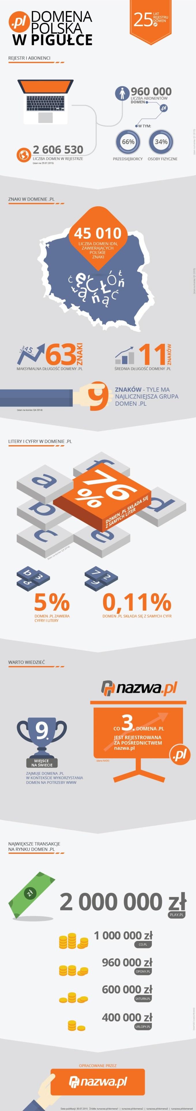 Polska domena (.pl) ma już 25 lat! (infografika)