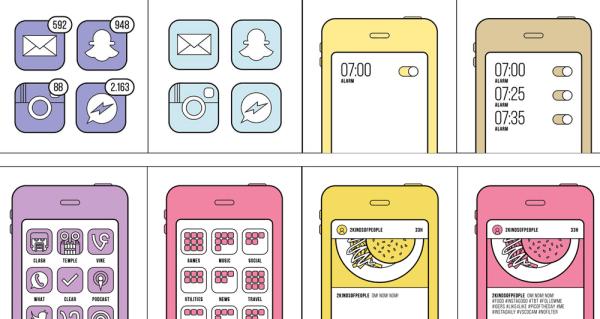 Dwa rodzaje ludzi korzystających ze smartfonów