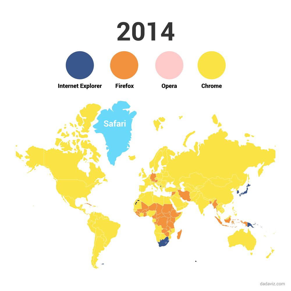 2014: Przeglądarka Safari najpopularniejsza na Grenlandii :)