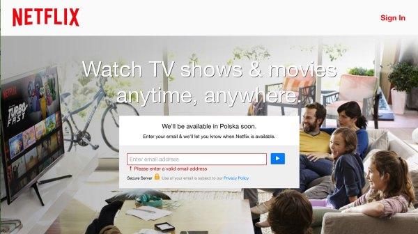 Netflix wkrótce dostępny w Polsce